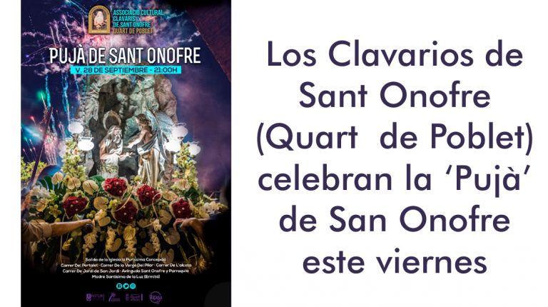 Los Clavarios de Sant Onofre de Quart de Poblet celebran la 'Pujà'
