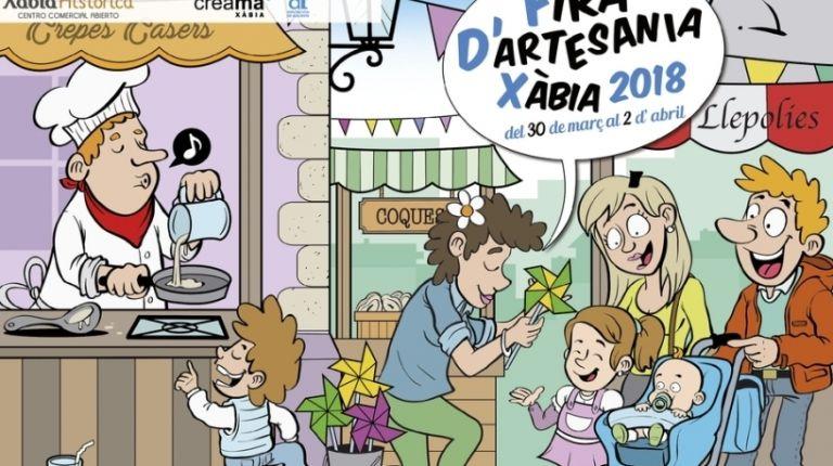Feria de Artesanía en Xàbia 2018 del 30 de marzo al 2 de abril