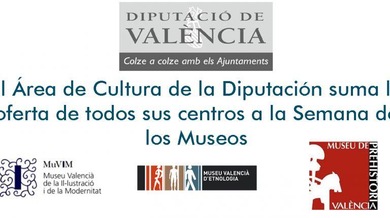 El Área de Cultura de la Diputación suma la oferta de todos sus centros a la Semana de los Museos