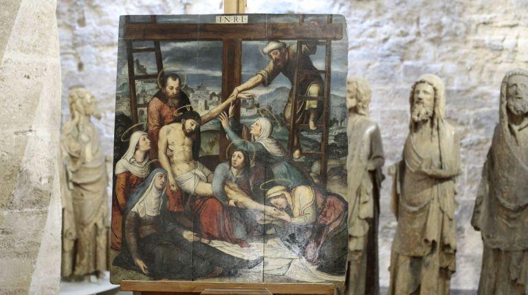 """La Catedral de Valencia presenta la restauración del óleo """"El Descendimiento"""", obra vinculada al círculo de Juan de Juanes"""