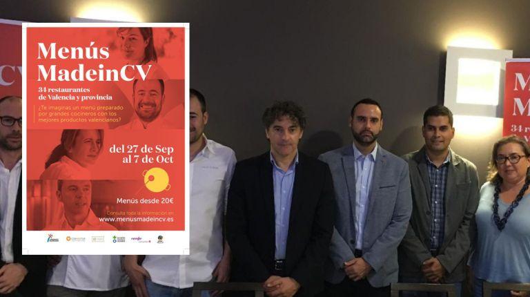 Jornadas Gastronómicas Menús MadeinCV para promover los mejores productos autóctonos con los mejores chefs