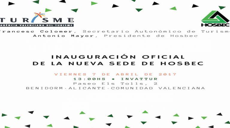 Acto de inauguración Nuevas oficinas de Hosbec en Invattur   Viernes 7 de abril 2017