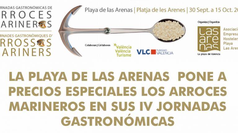 LA PLAYA DE LAS ARENAS  PONE A PRECIOS ESPECIALES LOS ARROCES MARINEROS EN SUS IV JORNADAS GASTRONÓMICAS