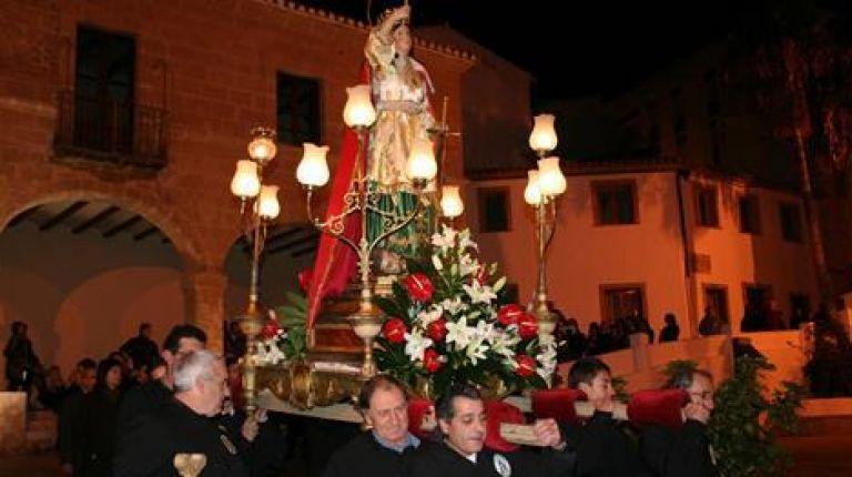 Fiesta en honor a Santa Catalina Mártir en Teulada