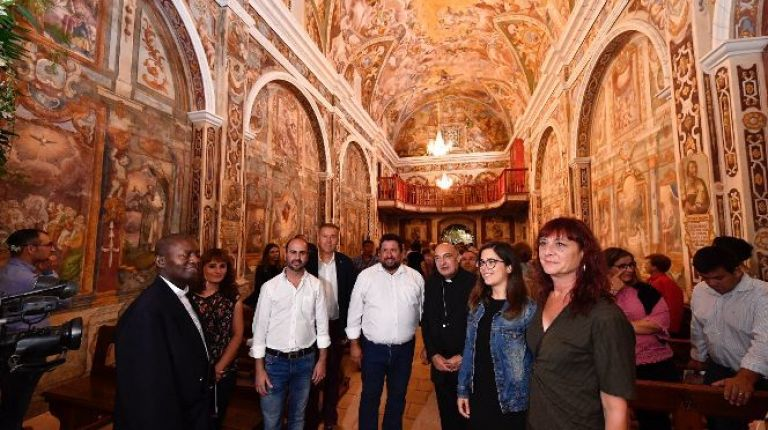 Finaliza la restauración de las magníficas pinturas de la Ermita de la Mare de Déu de l´Avellà de Catí
